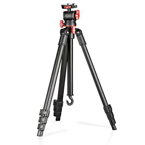 Walimex Basic reisstatief incl. waterpas voor SLR-camera (van aluminium, belastbaarheid 3kg)