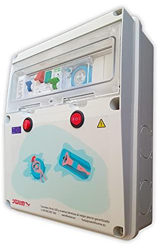 Swimhome Cuadro eléctrico para Piscina Guardamotor y Contactor para Motor, Transformador 100W,...