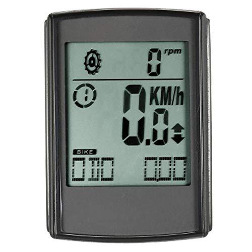 No-branded Odometer Spur Mountainbike-Entfernungsmesser-wasserdichtes leuchtendes Fahrradcodetabelle Digitaltacho Fahrradzubehör Power Meter Fahrrad ZHQHYQHHX (Color : Schwarz, Size : Kostenlos)