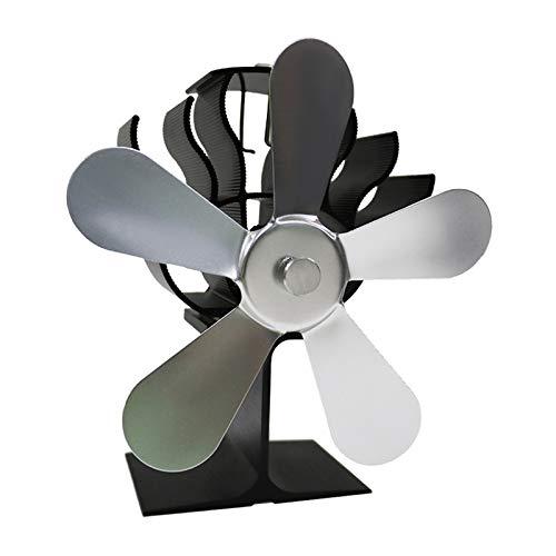 MERIGLARE Ventilador de Estufa Eléctrico con Termómetro Gratuito 5 - de Plata, Individual