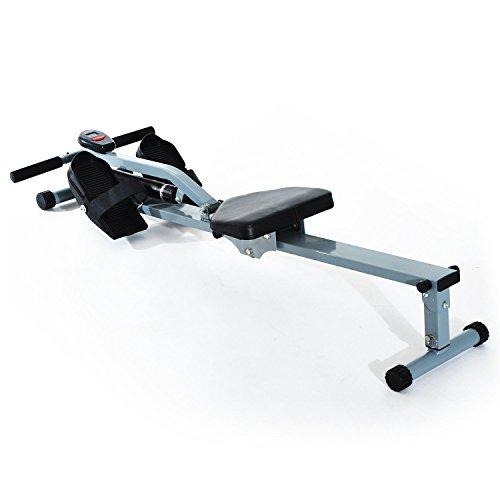 homcom Vogatore Professionale per Fitness Allenamento a Casa con Display 130 x 47.5 x 67cm