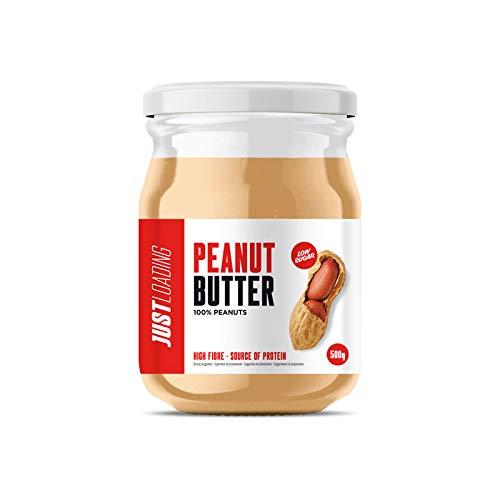 Just Loading - Mantequilla de Cacahuete 100% Natural - Peanut Butter 500 g - Sin gluten y fuente de proteínas
