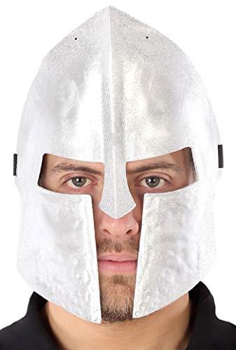 Herren Damen Silber Spartanischer Krieger Mittelalter Historischer Helm TV Buch Film...