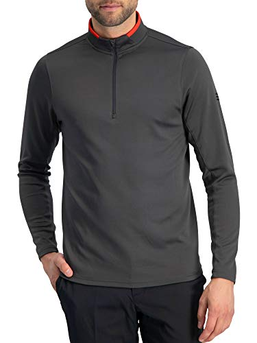 Golf Half Zip Pullover Men - Fleece Sweater Jacket - Mens Dry Fit Golf Shirts Charcoal Grey