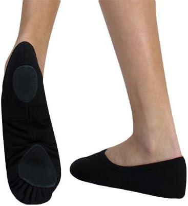 Womens TotalSTRETCH Canvas Split Sole Ballet Shoes by Angelo Luzio 246AEPK06.5W Peach 6.5 W US