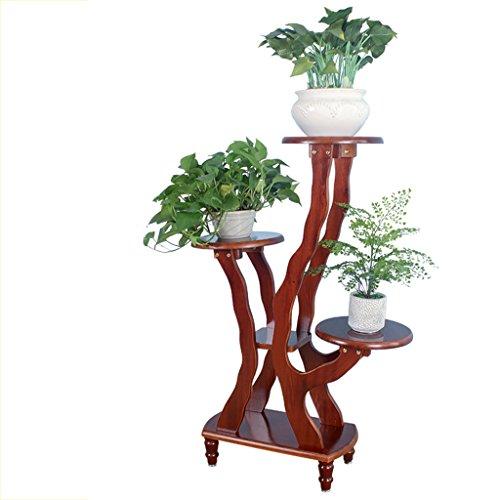 MLHJ Stand de Fleurs- Supports de Fleur d'intérieur de Salon de Balcon de Multi-Plancher en Bois Solide (Taille : 106 * 51 * 28cm)