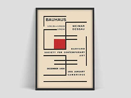 Póster de la Bauhaus Weimar Austellung, Weimar Dessau 1923, impresión de la exposición Bauhaus, impresión de la Bauhaus, lienzo sin marco F 50x75cm