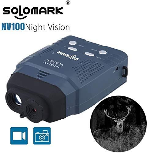 SOLOMARKナイトビジョン赤外線望遠鏡暗視スコープ赤外線カメラデジタル暗視鏡単眼鏡328ft/100m日本語取扱説明書付き