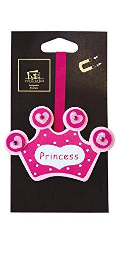 Aroa XXI Iman Infantil Princesa Abrazadera para Cortinas, Madera, Rosa, 24 x 6,5 x 1 cm