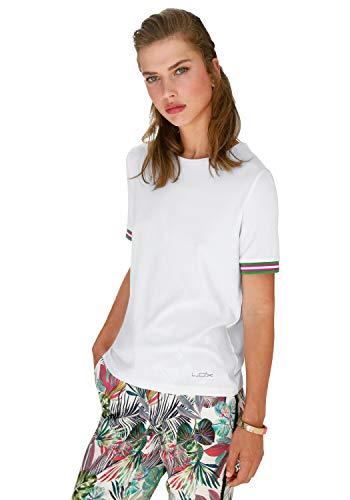 Looxent Damen Shirt Rundhals Kontrastverarbeitung