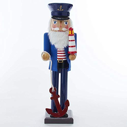 Kurt S. Adler 15-Inch Sailor Nutcracker with Anchor and Lighthouse Nussknacker, Mehrfarbig