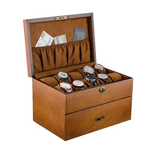 QXYAmj Bloqueo Doble de Madera Reloj Caja de Almacenamiento 20 Hombres y Mujeres extraíble Almohada Caja de Reloj Caja de presentación Colección Caja (Color : B)