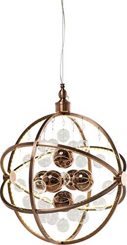 Kare Hanglamp Universum Copper LED, grote, moderne hanglampen met glazen bollen, ronde hanglamp, in hoogte verstelbaar tot 150 cm, (H/B/D) 150 x 48 x 48 cm