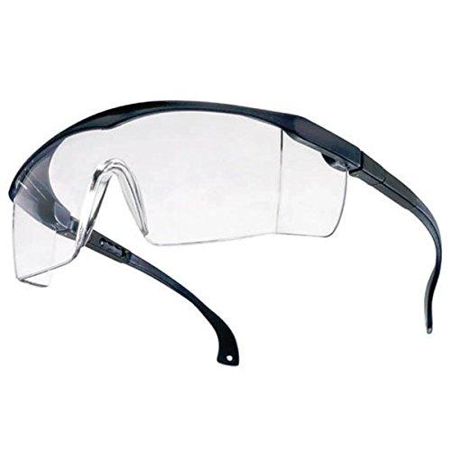 Tector Basic Schutzbrille | blau/klar | EN 166 Zertifiziert | klare Scheibe | längen- und höhenverstellbare Bügel Kratzfest leicht Gute Qualität