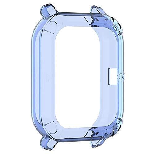 Huante Protector de reloj, funda antiarañazos, TPU transparente, compatible con Huami GTS, color azul
