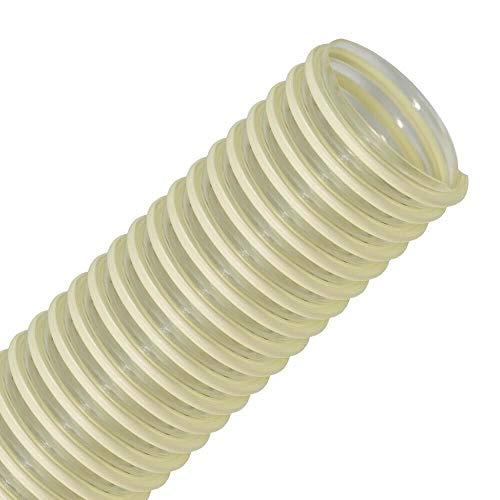 FLEXTUBE PU L-AS 50mm (2 Zoll), Länge Meterware - leichter, Polyurethanschlauch, Absaugschlauch mit PVC Spirale, antistatisch, Förderschlauch, Saugschlauch