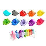 10 Pcs Premium Professional Clipper Guard Guide Set, 10 Length Color-Assorted Clipper Guard Combs Great for Professional Stylists and Barbers, Compatible with Most Wahl Clippers