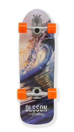 "Olsson & Brothers Wave Barrel - Surfskate, Juventud Unisex, Multicolor, 30"""