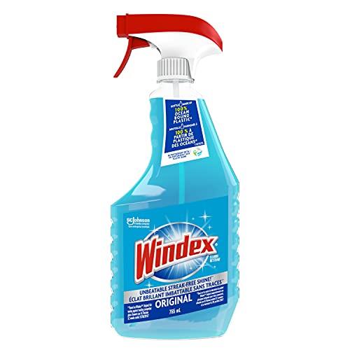 Windex Original Blue Glass and Window Cleaner, 765ml