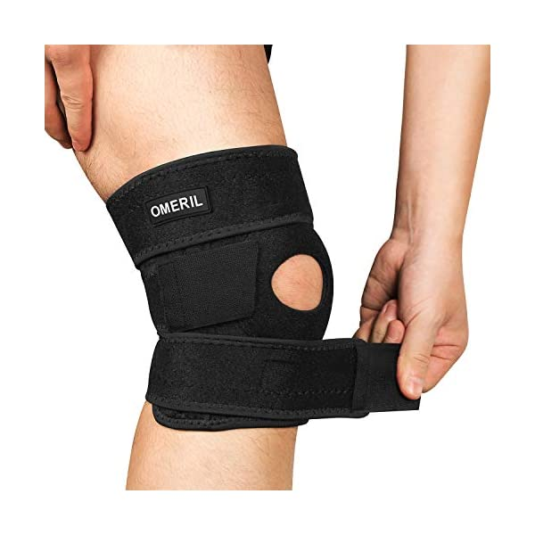OMERIL Knee Brace, Knee Compression Sleeve Breathable Knee Pad for Men & Women, Knee Support for Arthritis Pain, Tendinitis Pain, ACL, Athletic Injury. (1-pack)
