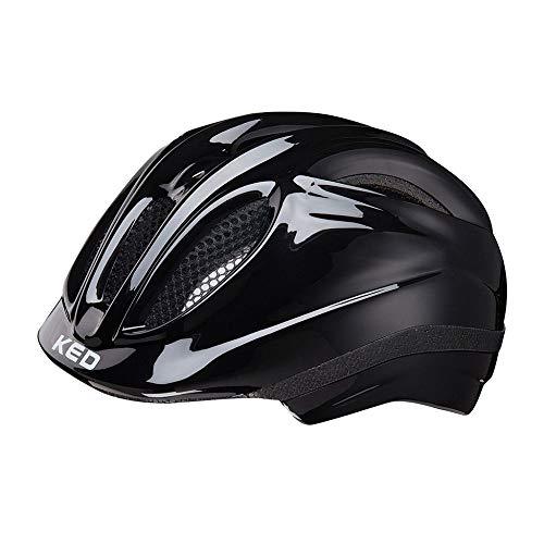 KED Meggy XS Black - 44-49 cm - inkl. RennMaxe Sicherheitsband - Fahrradhelm Skaterhelm MTB BMX Kinder Jugendliche