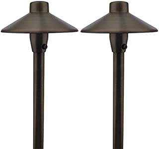 MarsLG BRS1 ETL-Listed Solid Brass Low Voltage Landscape Accent Path and Area Light with 6.5