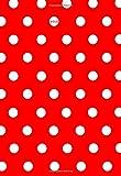 Mini Kalender 2019 Pünktchen rot weiß - ca. DIN A6, 1 Woche pro Seite