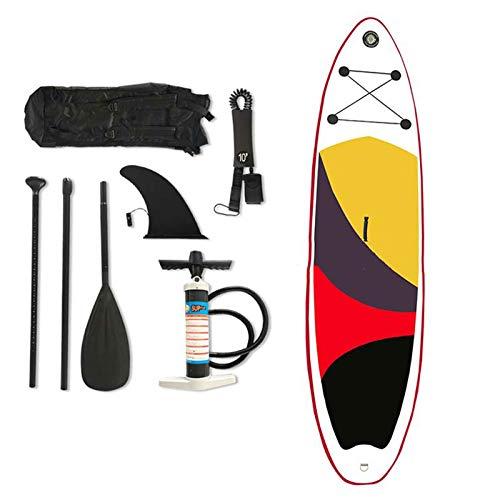 AORISSE Tabla Paddle Surf Hinchable, Tabla de Stand Up Paddle Sup Inflable de 10'6'× 30' × 6'con Pala Ajustable, Correa para el Tobillo, Bomba y Bolsa de Transporte Deportes acuáticos Paddleboard