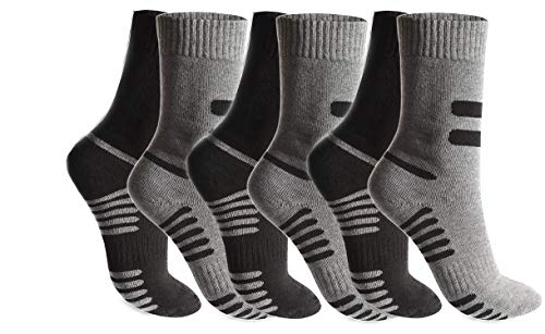 BestSale247 6 o 12 paia di calzini termici da uomo, caldi, spessi, invernali, da sci, da lavoro, in cotone Multicolore / 6 paia. 39-42