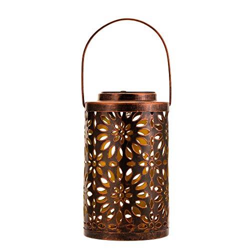 Pauleen 48072 Sunshine Grace Solar-Laterne Kupfer für außen-Balkon oder Garten, Metall, 0.005 W