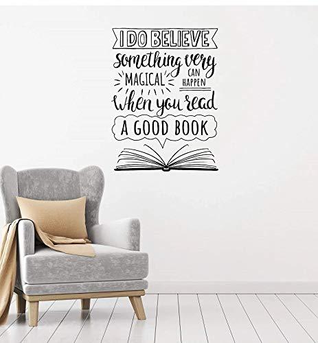 Etiqueta engomada de la pared del vinilo del lema inspirador Decoración de la sala de estudio de la biblioteca de la escuela