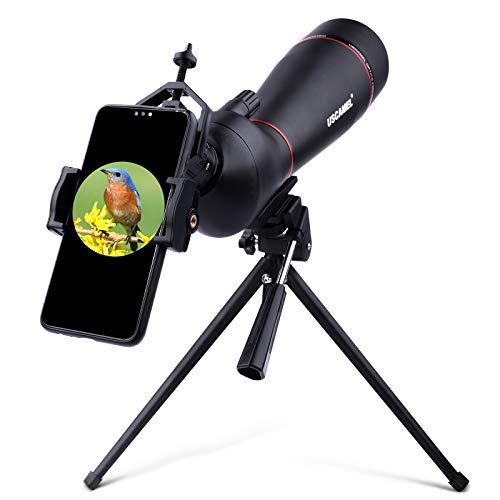 QUNSE Telescopio Terrestre, Zoom de 20-60X80 Gran Campo, Lente óptica de Multi-Revestido, Adecuado para la Observación de Aves, Animales, Actividades al Aire Libre (A)