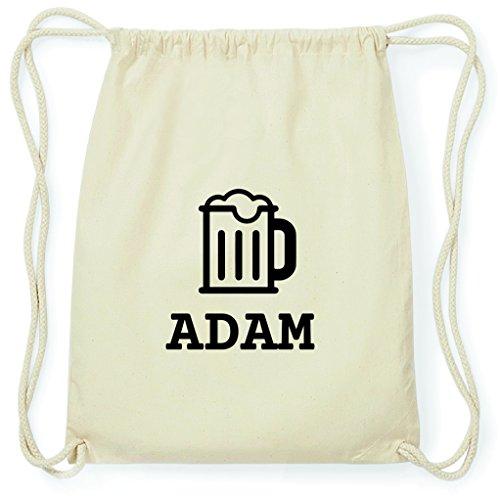 JOllify Turnbeutel - Happy Birthday - für ADAM - Bier Gruß