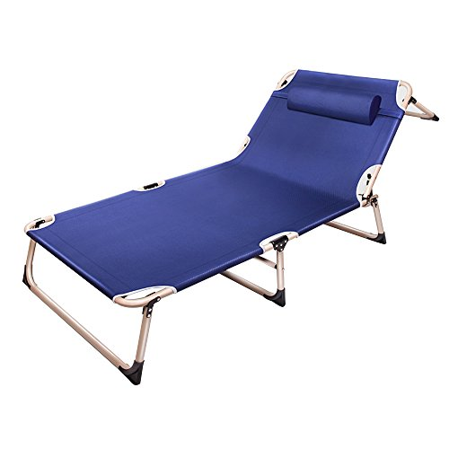 Chaise Longue Lit Pliant Lit Simple Lit De Repos Lit De Bureau Lit Inclinable Chaise De Pique-nique Simple Recliner (Couleur : B)