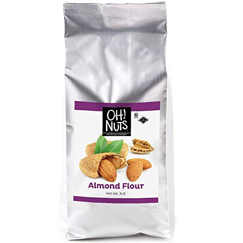 Oh! Nuts Blanched Almond Flour | Gluten-Free, Extra Fine Baking Delights | 3lb All-Natural Wheat Substitute | Dried Food Healthy Pantry Items | All-Purpose Kosher, Vegan, Paleo and Keto Friendly Diets