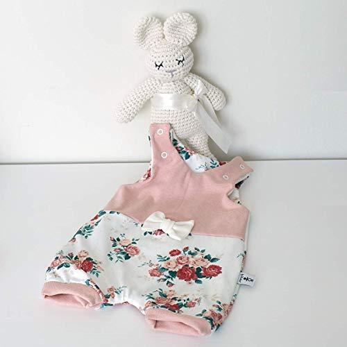 Kurzer Baby Strampler mit Schleife Sommer Cremeweiß Rosen (rose melange) Baby Mädchen