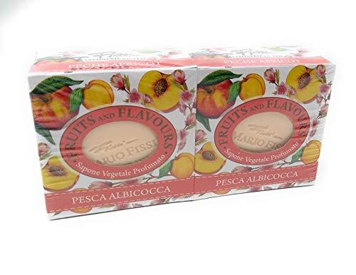 2 zeep Vegetali Fruit en Flavours PESCA & ALBICOCCA