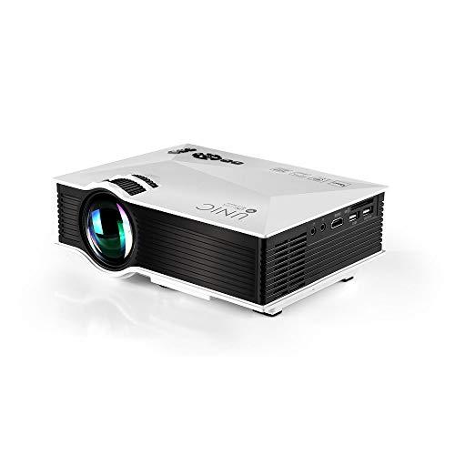 『UNIC UC46 LEDプロジェクター 1080P WIFI無線接続 1200ルーメン IOS10も対応 ホームシアター 会議用 (白)』のトップ画像