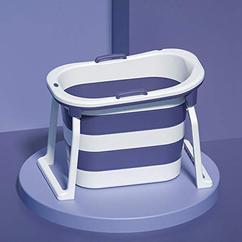 GRFD Bañera portátil, bañera Plegable de TPE para baño Independiente, bañera con Ducha de pie, protección del Medio Ambiente cálida, Adecuada para el baño Familiar