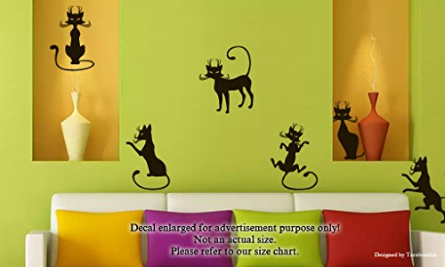 Cats Wall Decals The Cat Comic Cartoon Simon Set Stickers Decorative Design Ideas for Your Home or Office Walls Removable Vinyl Murals EC-0852