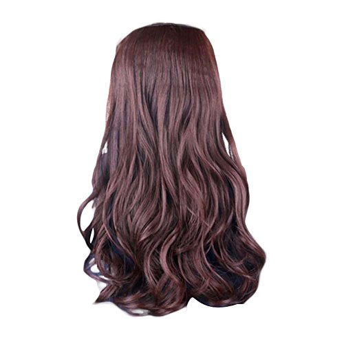 Clip estetiche per capelli ricci monoblocco Clip per capelli 5 clips 20 pollici - marrone scuro