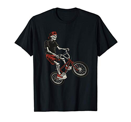 Squelette Vélo Tout Terrain VTT Montagne Descente Randonnée T-Shirt