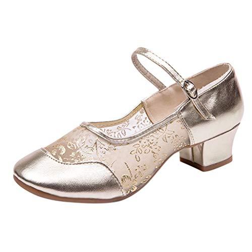 ♥ Loveso♥ Damen Geschlossene Ballerinas Mesh Flache Sandalen Party Damenschuhe Ballsaaltanz Schuhe