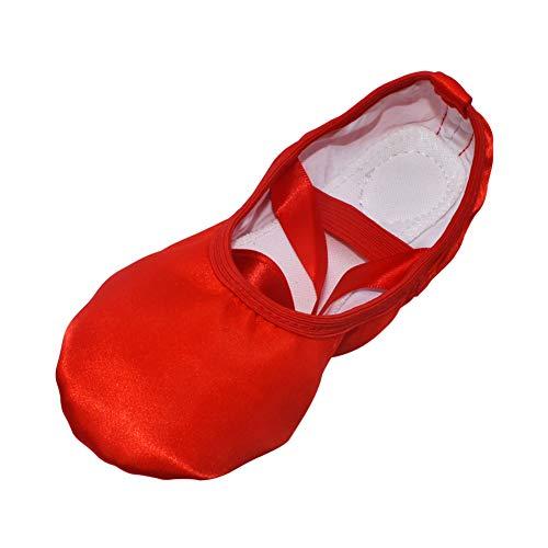 Meijunter Mujeres Niñas Cinta de Seda Zapatos de Baile de Ballet Suela...