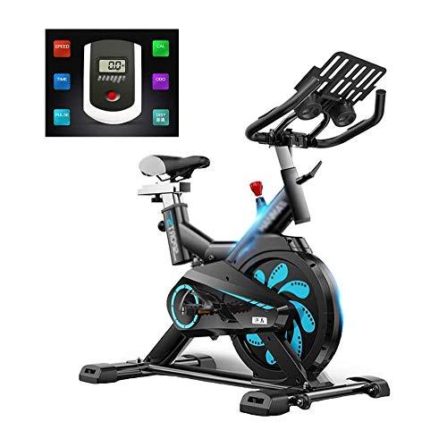 WJFXJQ La Bici de Ciclo Indoor Interior de Bicicleta de Ejercicios Papeteria- transmisión por Correa con Estable del Volante, Ritmo cardíaco y el Monitor LCD estándar Comercial for el hogar Cardio