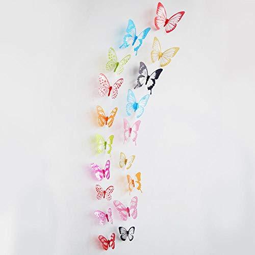 DWWSP Haus Dekoration 18pcs / Lot Effekt 3D Kristall Schmetterlinge Wandaufkleber Schöner Schmetterling for Kinderzimmer Wandaufkleber Hauptdekoration an der Wand (Color : B)