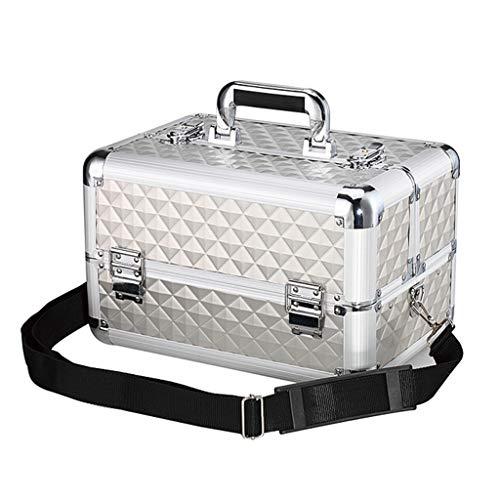 Metalen doos voor Medicatie Eerste Hulp Opbergdoos Medicine Kast Met Lock En Vakken - 4 Trays Cosmetische Cases Make-up Opslag Organizer Box - 35 * 24 * 22cm