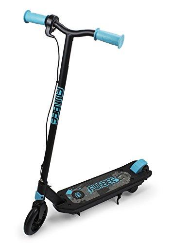 Trottinette Electrique 2 Roues Enfant Noire et Bleue Funbee - Vitesse max 10 km/h - Chargeur inclus - Dès 6 ans - D'arpèje - OFUN400