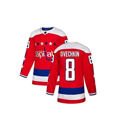 ZRHXN Washington-Kapitelle # 8 Ovechkin Jersey Eishockey Trikots NHL Männer Sweatshirts Atmungsaktives langarmes T-Shirt,S