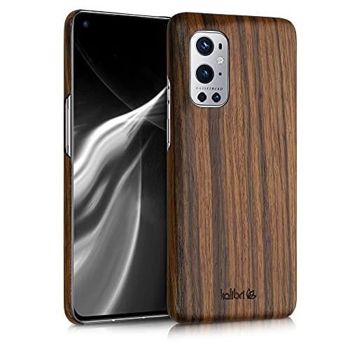 kalibri Schutzhülle kompatibel mit OnePlus 9 Pro - Hülle Handy Holz - Slim Hülle Handyhülle Dunkelbraun